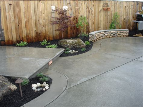 Backyard Concrete Patio Ideas Image From Http Outdoortheme Wp Content Uploads 2012 07 Concrete Patio 2 Jpg Tiny