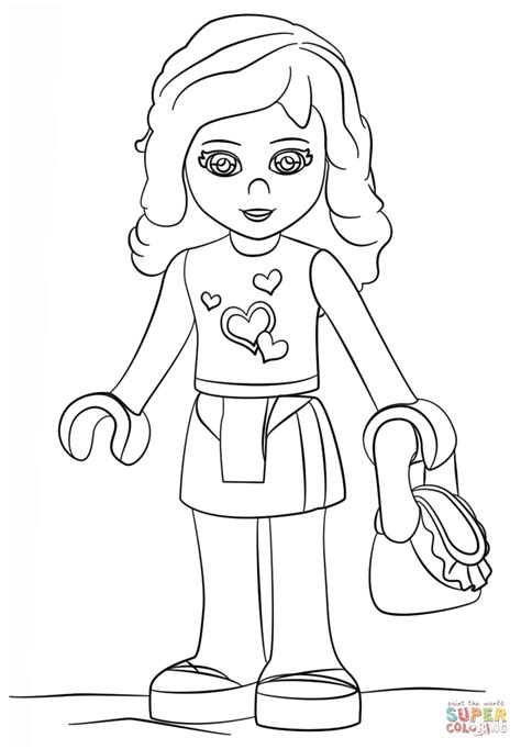 coloring pages lego friends lego friends coloring page free printable