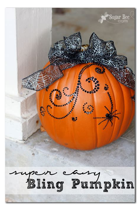 super easy bling pumpkin decor sugar bee crafts