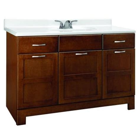 Home Depot Bathroom Vanities 48 Casual 48 In W X 21 In D X 33 5 In H Vanity Cabinet Only In Cognac