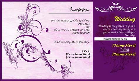 invitation card design template word wedding card templates beneficialholdings info