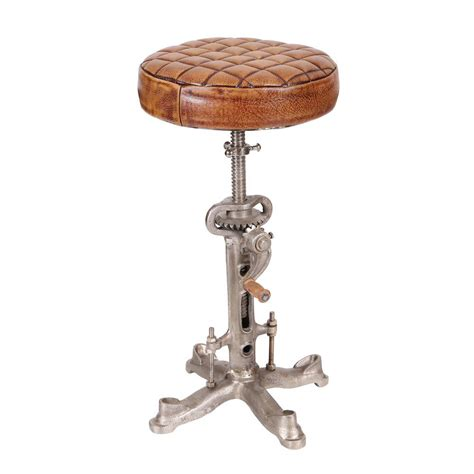 industries leather bar stool industrial leather bar stool with swivel wind up
