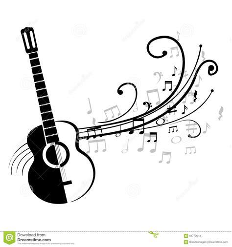 imagenes notas musicales para guitarra guitarra ac 250 stica con las notas musicales stock de