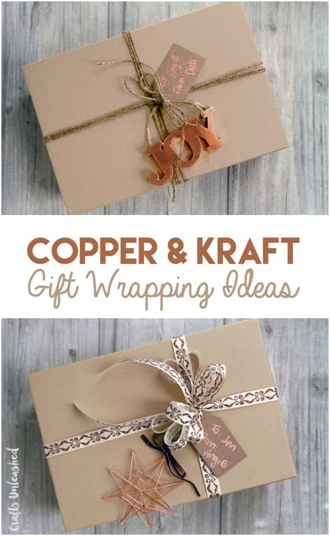 Kraft Paper Crafts - diy gift wrapping ideas copper kraft consumer crafts