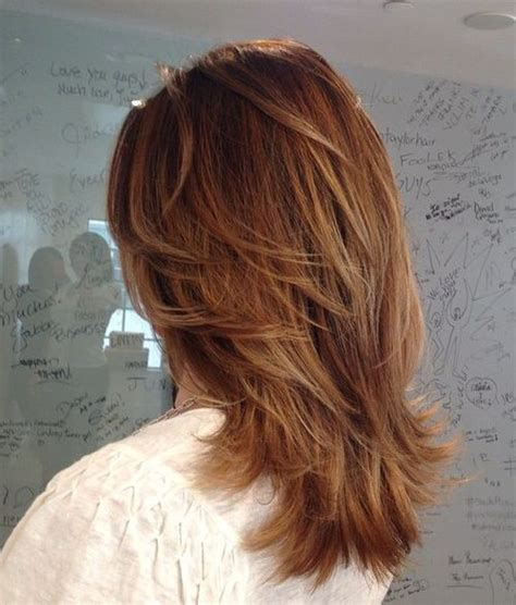 layered feathered back hair 70 brightest medium layered haircuts to light you up