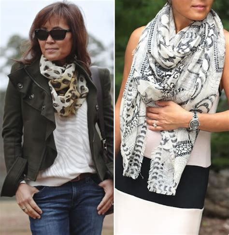 dressing challenge results wearing a scarf 2 different ways