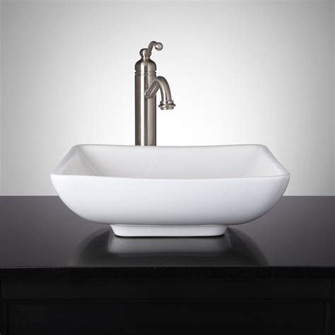 vessel sink bathroom mirach square porcelain vessel sink bathroom