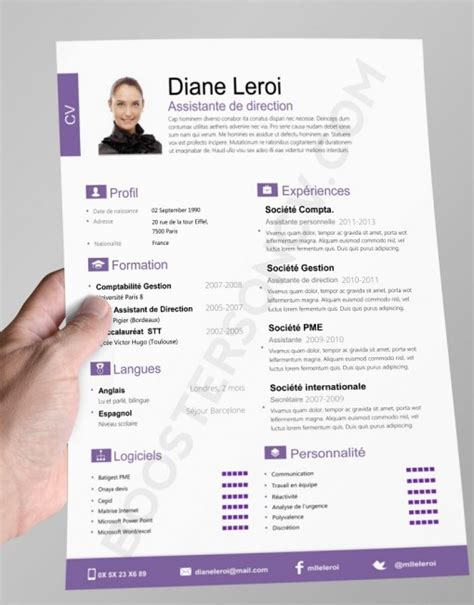 Cv Original by Modele Cv Original Design Gratuit