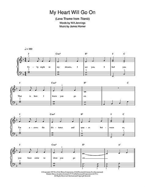 rose theme titanic piano my heart will go on love theme from titanic sheet music