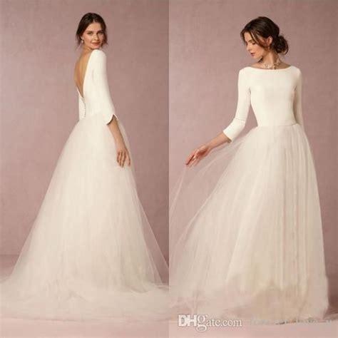 Simple Wedding Dresses Uk by Cheap Stunning Winter Wedding Dresses A Line Satin Top