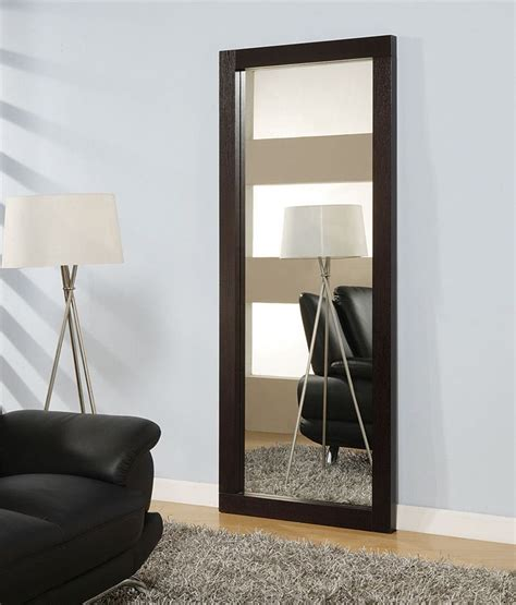 long mirrors for bedroom rectangular standing long mirror in wenge wooden frame