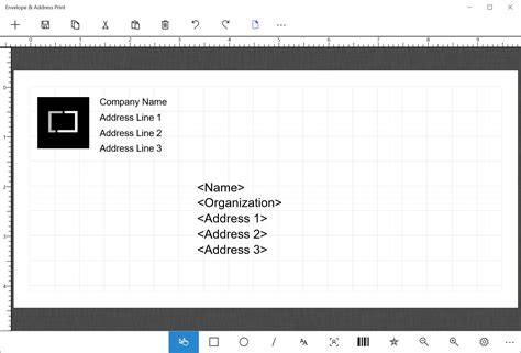 Envelope Address Print Windows Store App See Through Envelope Address Template