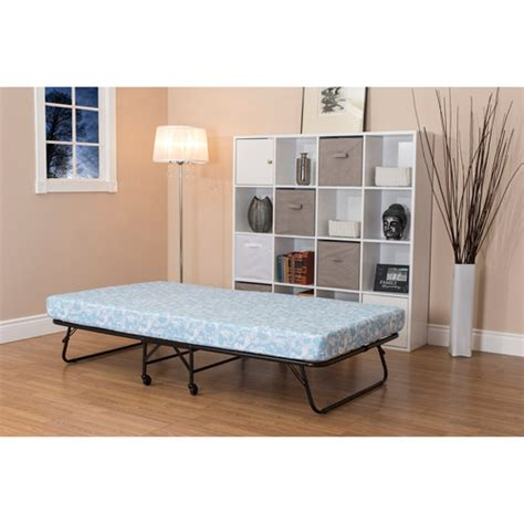 walmart folding bed folding guest bed with 5 quot mattress twin walmart com