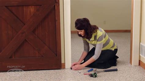 barn door rail system how to install a rolling barn door flat rail system