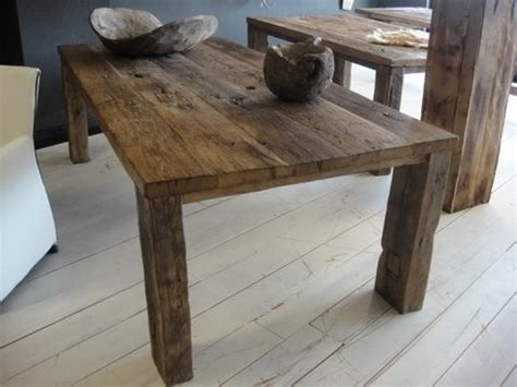 Dining Table On Wood Floor Reclaimed Wood Furniture Houston At The Galleria
