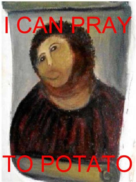 Jesus Painting Restoration Meme - the internet responds botched ecce homo painting meme memes