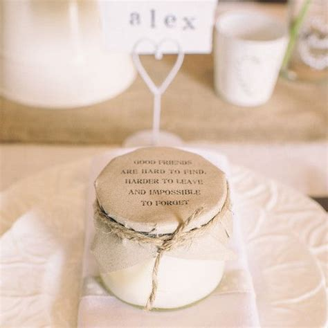 Our Wedding The Favors by Rustic Jam Jar Scented Candle With Message On Lid The