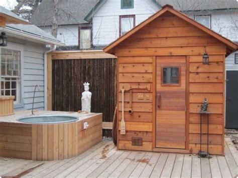 outdoor saunas kits