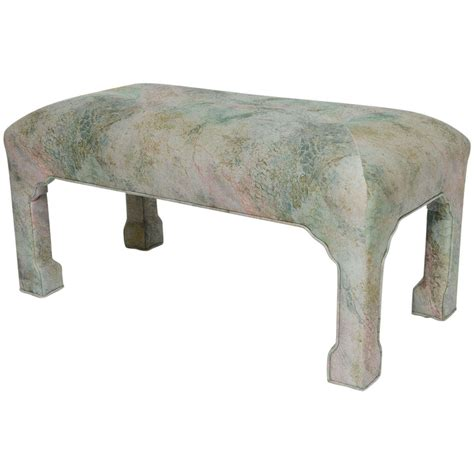 tufted upholstered bench thayer coggin sculpted leg tufted upholstered bench at 1stdibs