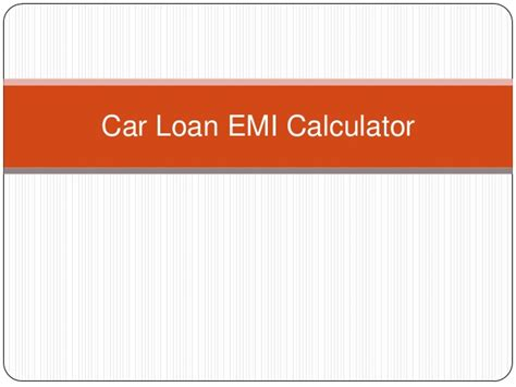 housing loan emi calculation car loan emi calculator