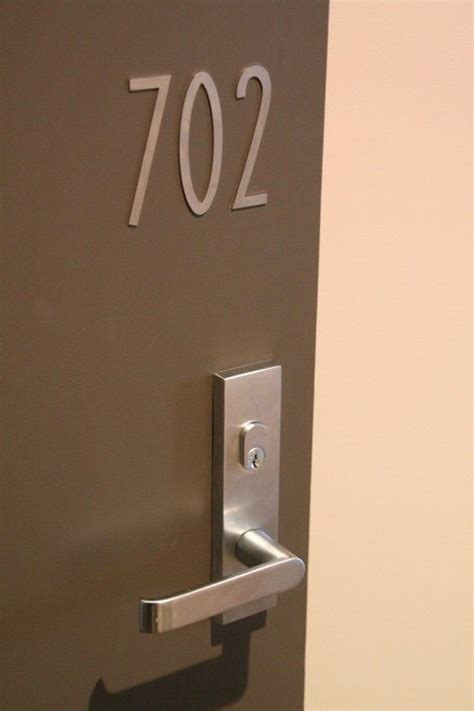 Appartment Number by Apartment Commercial Handles With Matching Door Numbers