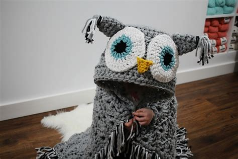 Crochet Owl Pattern Blanket by Diy Owl Blanket Will Turn You Into A Cozy Bird On The