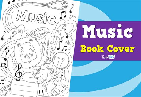 Musical Book Covers by Book Cover Printable Book Covers For Primary