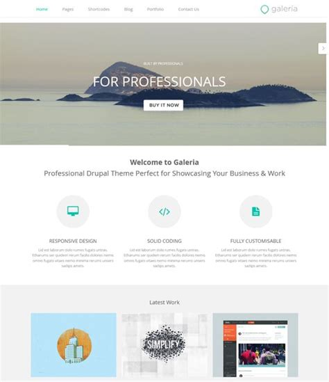 bootstrap templates for drupal 18 best 18 of the best parallax drupal themes images on