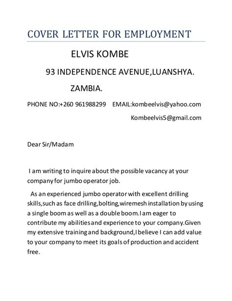 how to make a cover letter for employment cover letter for employment
