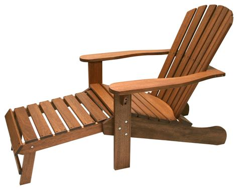 Adirondack Chair With Built In Ottoman Craftsman