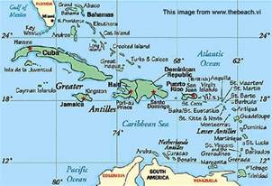 Map Caribbean Islands by Girlshopes