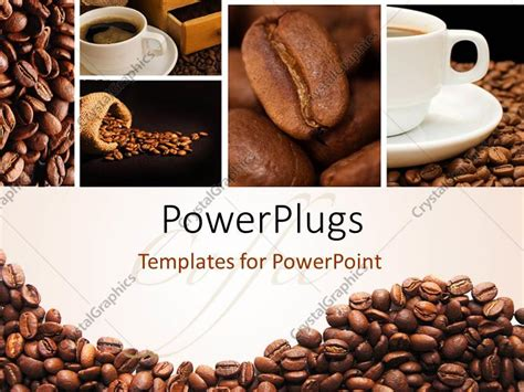 Powerpoint Template A Lot Of Coffee Beans And A Cup Of Coffee 7558 Coffee Powerpoint Template Free