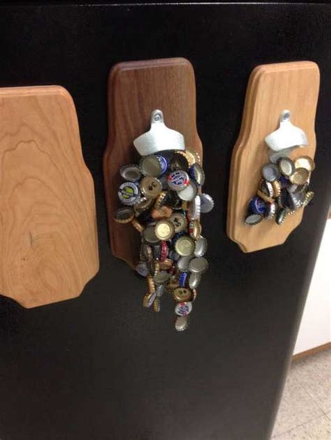 awesome diy projects for guys this weekend awesome and magnetic bottle opener on