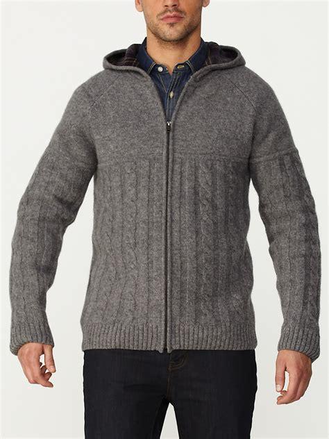mens grey knitted cardigan paul costelloe paul costelloe mens cable knit cardigan in