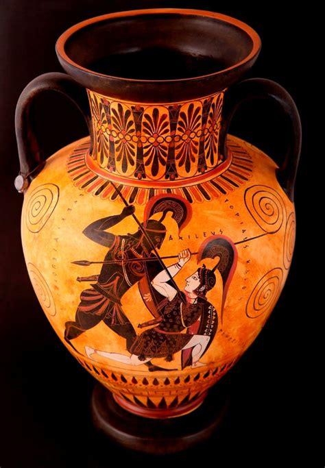 Achilles And Penthesilea Vase by Pottery Shop Buy Ancient Vessels Replicas