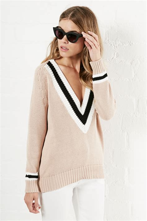 Casual Wear Ipzone 100 Original front row shop v neck cotton sweater in dailylook