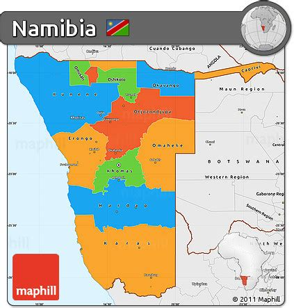 political map of namibia free political simple map of namibia single color outside
