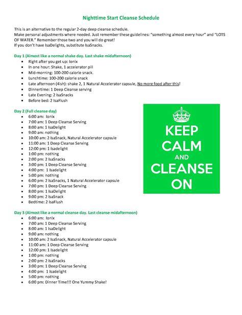 Isagenix Detox Cleanse by Isagenix Time Start Cleansing Schedule Isagenix