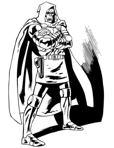 doctor doom coloring page free doctor doom coloring pages