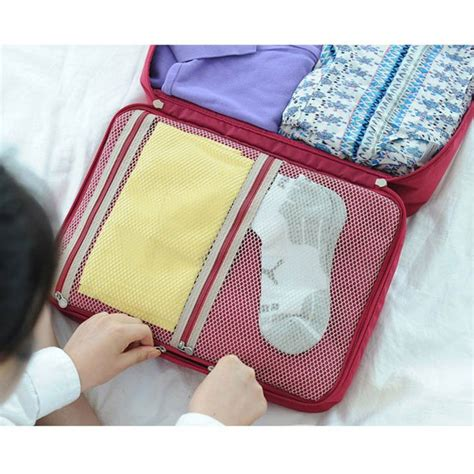 Tas Travel Travel Bag K053 tas travel bag in bag organizer pakaian polyester gray jakartanotebook