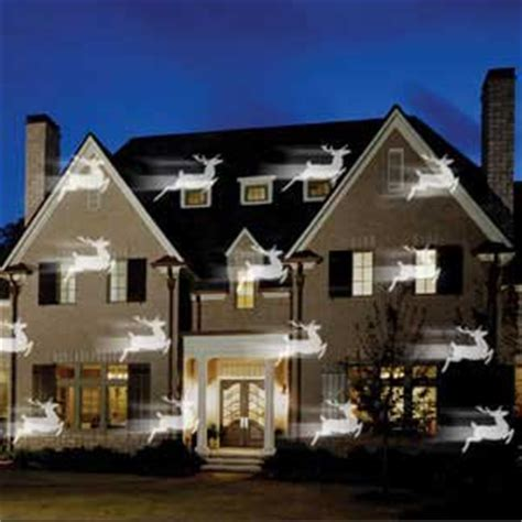 christmas lights projected on house projector rentals