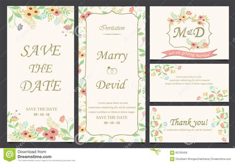 comp card design template pages wedding invitation card template stock vector