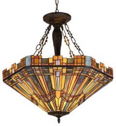 style mission inverted pendant ceiling fixture