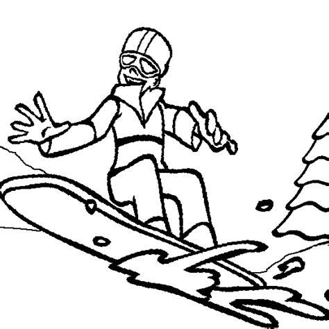 imagenes de invierno en dibujos dibujo para pintar de snowboard dibujos para pintar
