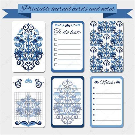 diarios de motocicleta notas b0098p9l4o notas para imprimir tarjetas de diario etiquetas con ornamentos de damasco azul archivo