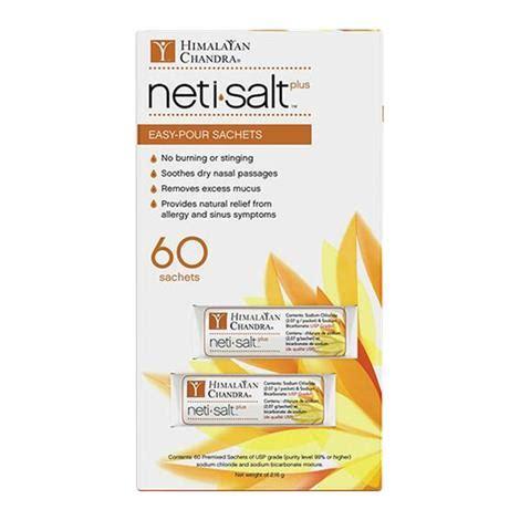 himalayan salt l allergies himalayan chandra nasal care neti salt refill sachets