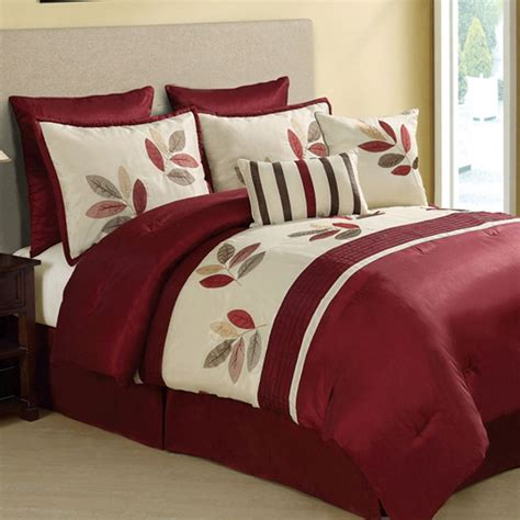 red comforter sets queen oakland comforter set in burgundy new ideas for
