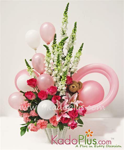 Balon New Baby Keranjang by Rangkaian Balon Bunga Bayi Balloons More 4 Kadoplus