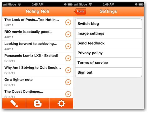 blogger app google blogger iphone app features and review