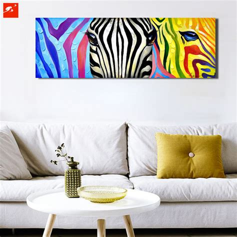 pop colourful animal wall zebra canvas print